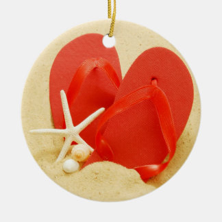 Flip-flops do divertimento enfeite para arvore de natal