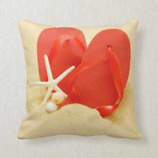 Flip-flops do divertimento travesseiros de decoração