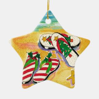 Flip-flops do feriado - ornamento da estrela