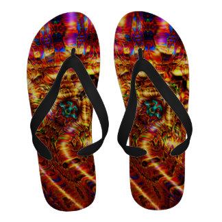 Flip-flops Karmic dos trabalhos de arte da inclina