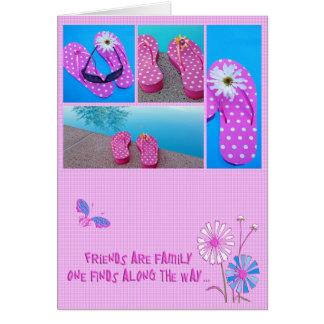 Flip-flops para amigos cartão comemorativo