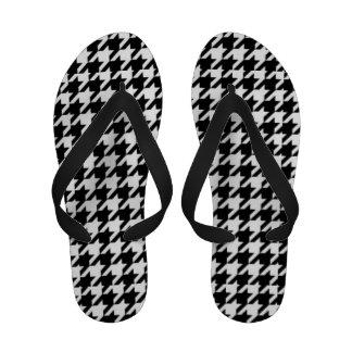 Flip-flops retros clássicos de Houndstooth (mulher