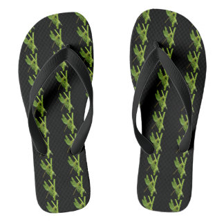 Flip-flops verdes da libélula chinelos