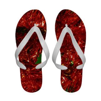Flip-flops vermelhos do ouropel