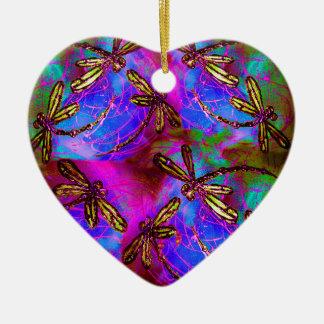 Flit do hippy da libélula ornamento de cerâmica