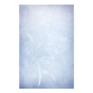 Floarl azul elegante que Wedding Staionery Papéis Personalizados