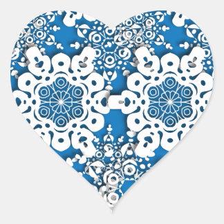 Floco de neve 4 do laço adesivo coração