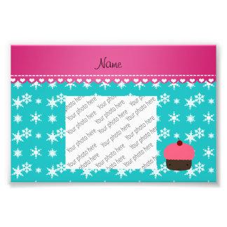 Floco de neve cor-de-rosa conhecido personalizado impressão de fotos