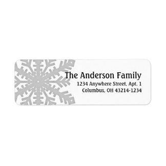 Floco de neve de prata:: Etiquetas de endereço do