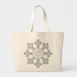 Floco de neve de vidro bolsas de lona