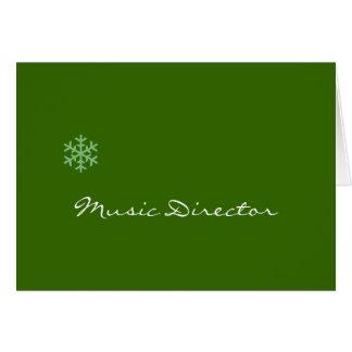 Floco de neve do director musical cartao