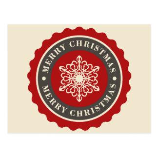 Floco de neve do feriado do Feliz Natal Cartão Postal