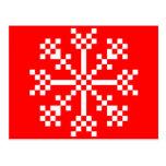 floco de neve do jogo de vídeo de 8 bocados cartao postal