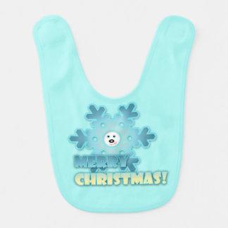Floco de neve do Natal Babador Infantil