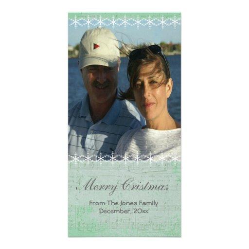 Floco de neve do Natal e cartão com fotos da músic