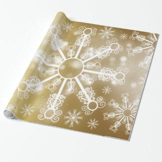 Floco de neve do ouro papel de presente