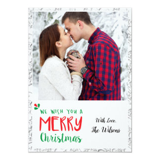 Floco de neve dos cartões de foto de Natal 5x7