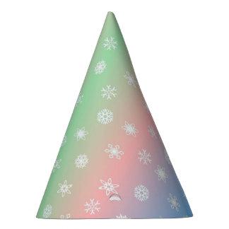 Floco de neve festivo e Pastel listrados Chapéu De Festa