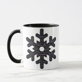 Floco de neve inspirado caneca combinado de 11