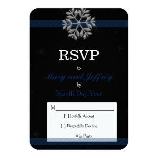 Floco de neve que Wedding o cartão de RSVP com Convite 8.89 X 12.7cm