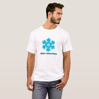 Flocos da neve da camisa do Natal T