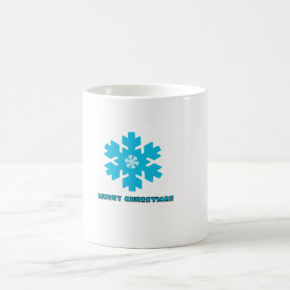 Flocos da neve do Natal da caneca
