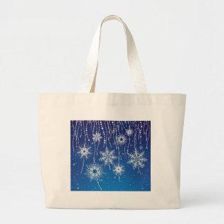 Flocos de neve abstratos bolsa
