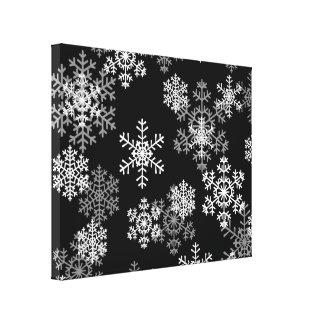 Flocos de neve Arte-Pretos & brancos das canvas do