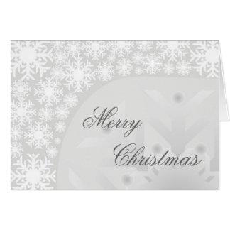 Flocos de neve cinzentos gelados - cartão de cartõ