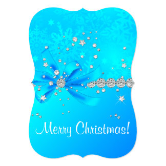 Flocos de neve congelados convite 12.7 x 17.78cm