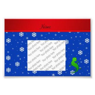 Flocos de neve conhecidos personalizados do azul impressão de fotos