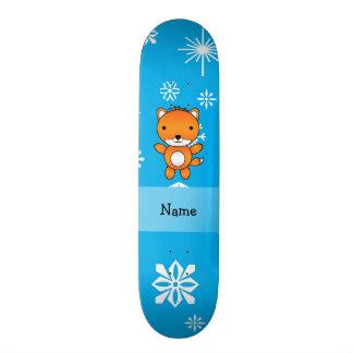 Flocos de neve conhecidos personalizados do azul d skate personalizado