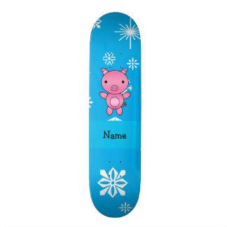Flocos de neve conhecidos personalizados do azul d shape de skate 19,7cm
