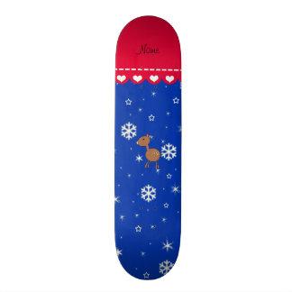 Flocos de neve conhecidos personalizados do azul skates personalizados