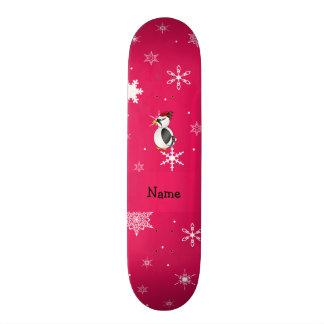 Flocos de neve conhecidos personalizados do rosa d shape de skate 18,4cm
