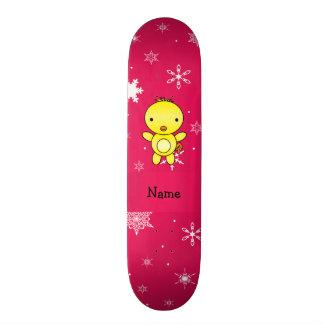 Flocos de neve conhecidos personalizados do rosa d shape de skate 18,7cm