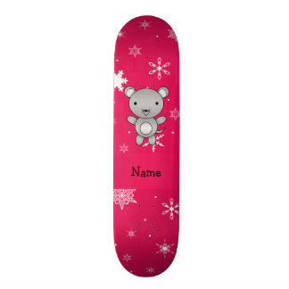 Flocos de neve conhecidos personalizados do rosa d skate