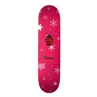 Flocos de neve conhecidos personalizados do rosa d shape de skate 19,7cm