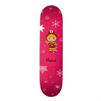 Flocos de neve conhecidos personalizados do rosa d skate personalizado