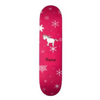Flocos de neve conhecidos personalizados do rosa d shape de skate 21,6cm