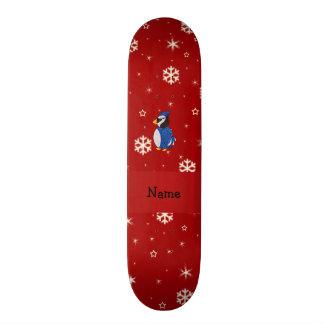 Flocos de neve conhecidos personalizados do vermel shape de skate 18,1cm