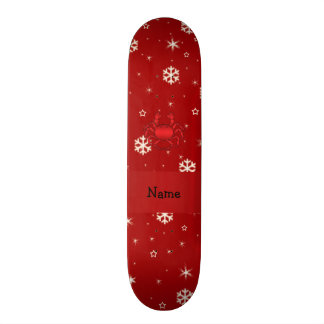 Flocos de neve conhecidos personalizados do vermel shape de skate 21,6cm