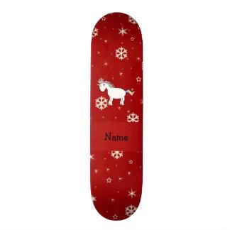 Flocos de neve conhecidos personalizados do vermel shape de skate 20,6cm