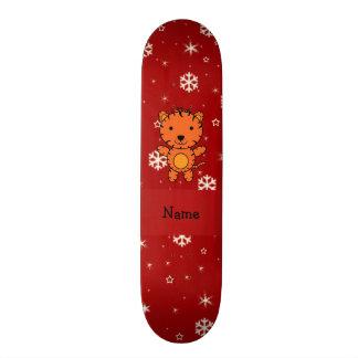 Flocos de neve conhecidos personalizados do vermel skate