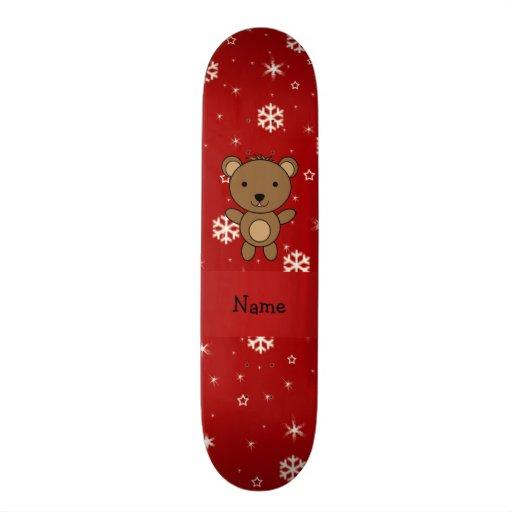 Flocos de neve conhecidos personalizados do vermel skate boards