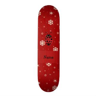 Flocos de neve conhecidos personalizados do vermel skates personalizados