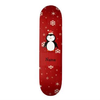 Flocos de neve conhecidos personalizados do vermel skates