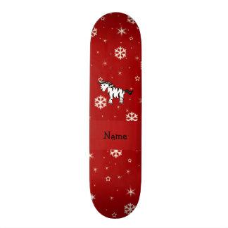 Flocos de neve conhecidos personalizados do vermel shape de skate 19,7cm