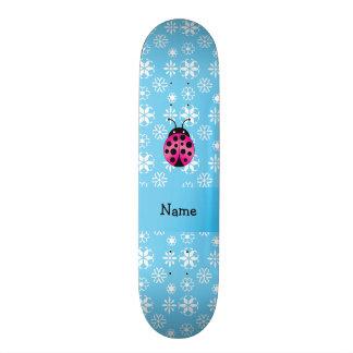Flocos de neve cor-de-rosa conhecidos personalizad skate
