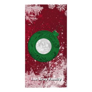 Flocos de neve do cartão com fotos | do feriado do